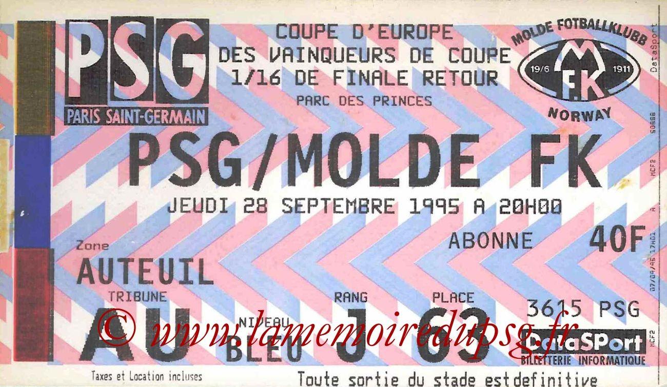 1995-09-28  PSG-Molde (16eme Finale Retour C2)