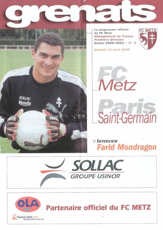 2000-08-19  Metz-PSG (4ème D1, Grenats N°2)