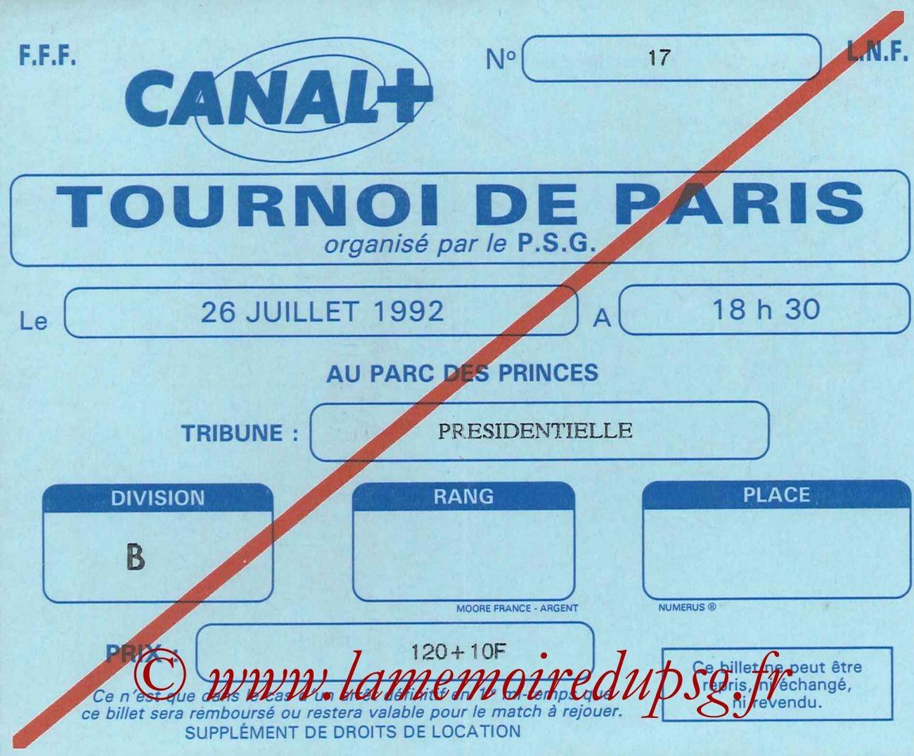 1992-07-26  PSG-Borussia Dortmund (Demi-Finale 28ème Tournoi de Paris)