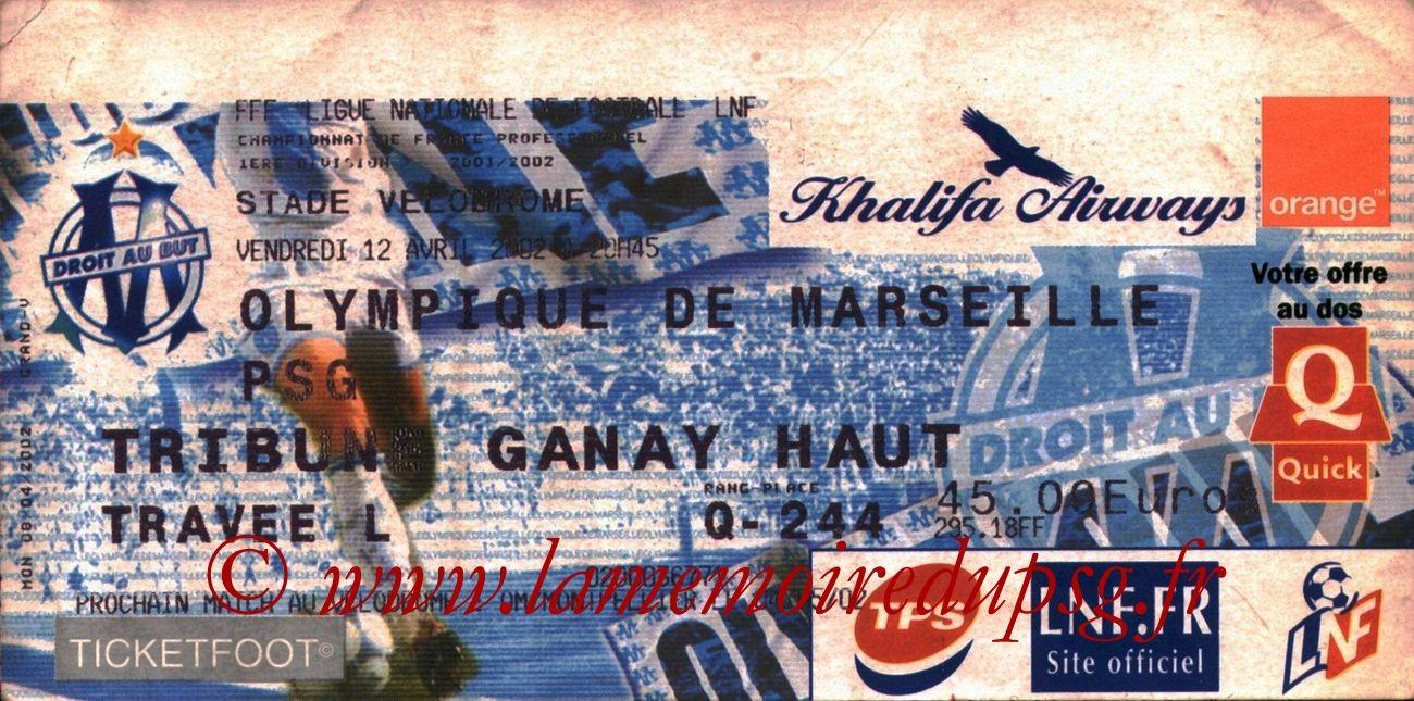 2002-04-12  Marseille-PSG (32ème D1)