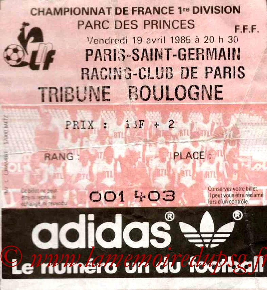 1985-04-19  PSG-Racing Paris (33ème D1)