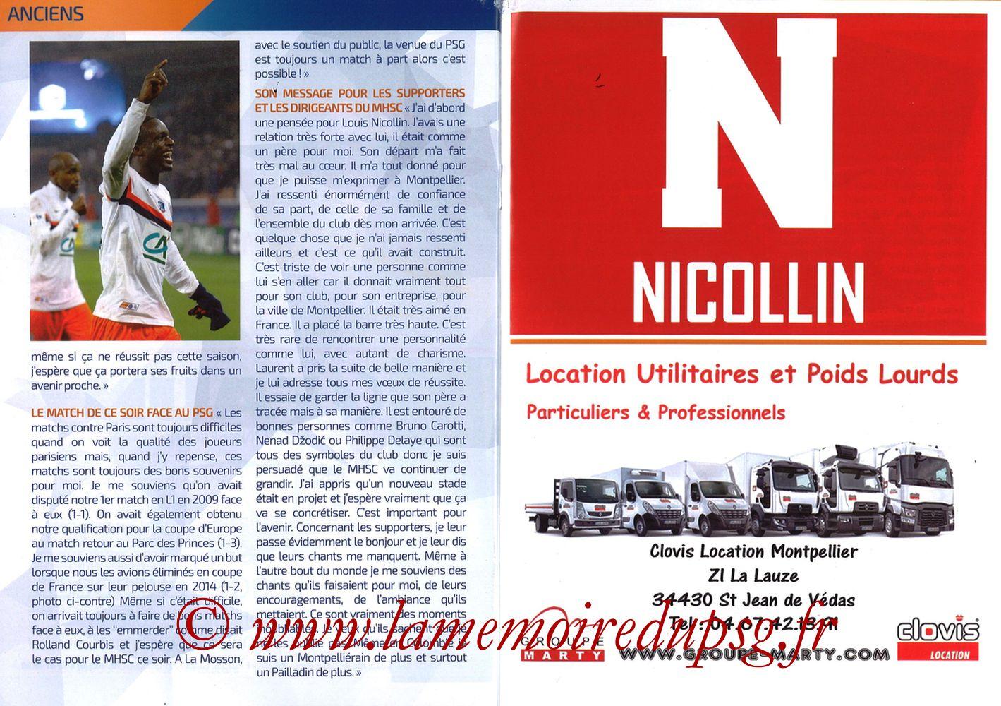 2019-04-30  Montpellier-PSG (34ème L1, L'Echo de la Mosson N°17) - Pages 24 et 25