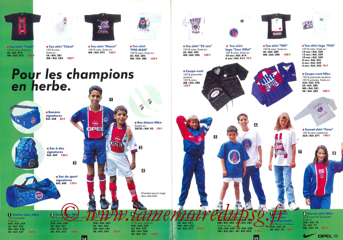 Catalogue PSG - 1996-97 - Pages 14 et 15