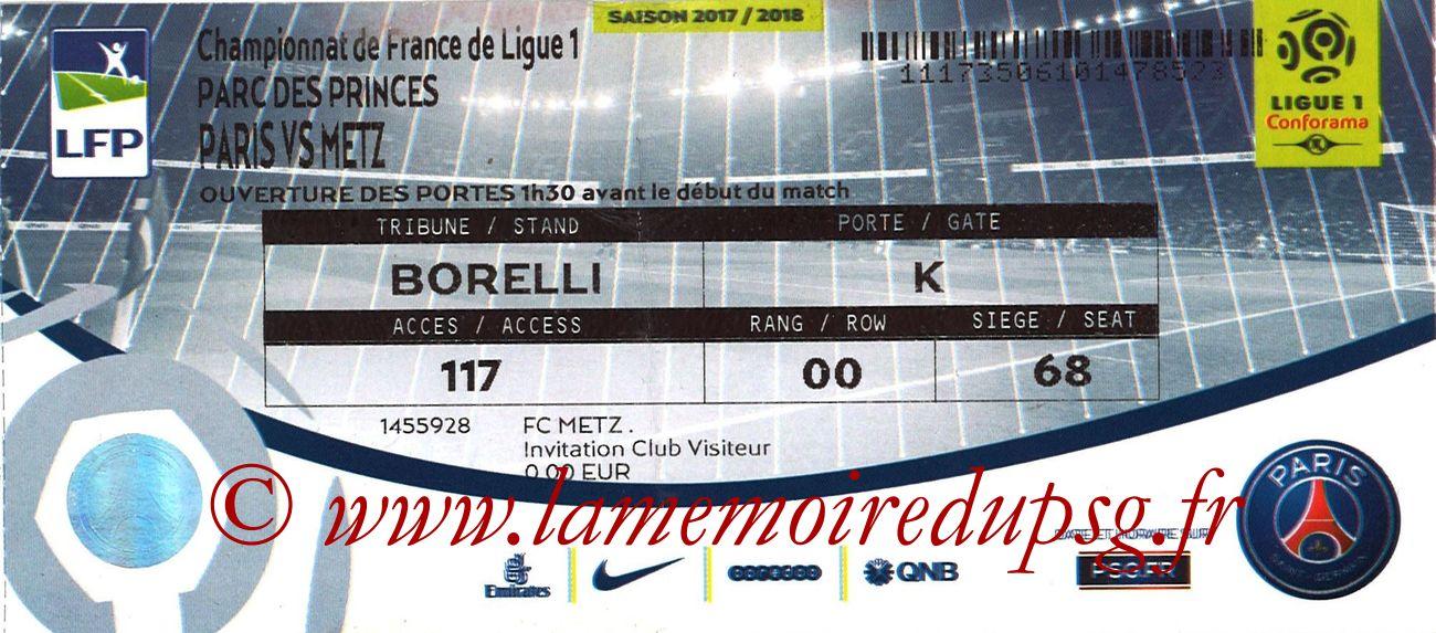 2018-03-10  PSG-Metz (29ème L1 bis)
