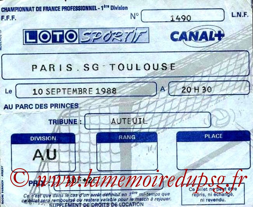 1988-09-10  PSG-Toulouse (11ème D1)