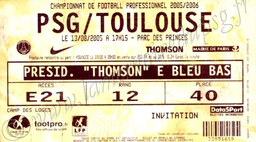 2005-08-13  PSG-Toulouse (3ème L1, bis)