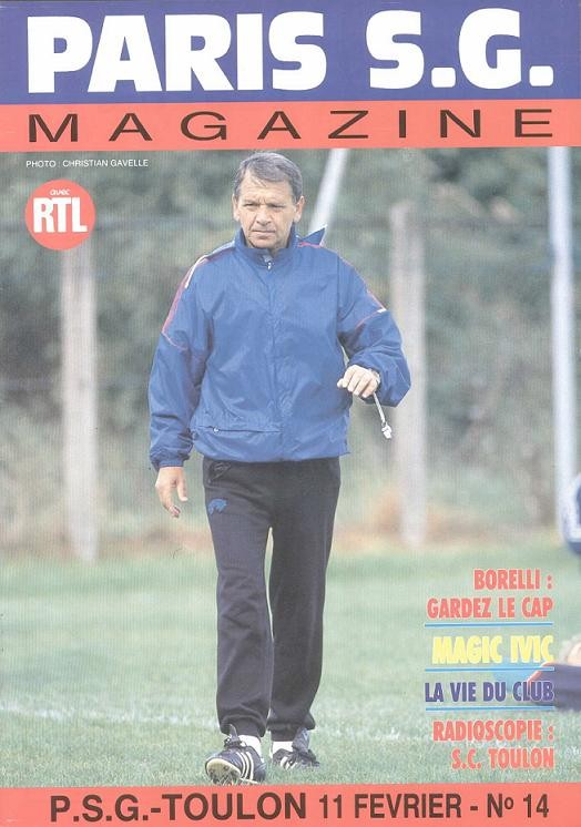 1989-02-11  PSG-Toulon (26ème D1, Paris Magazine N°14)
