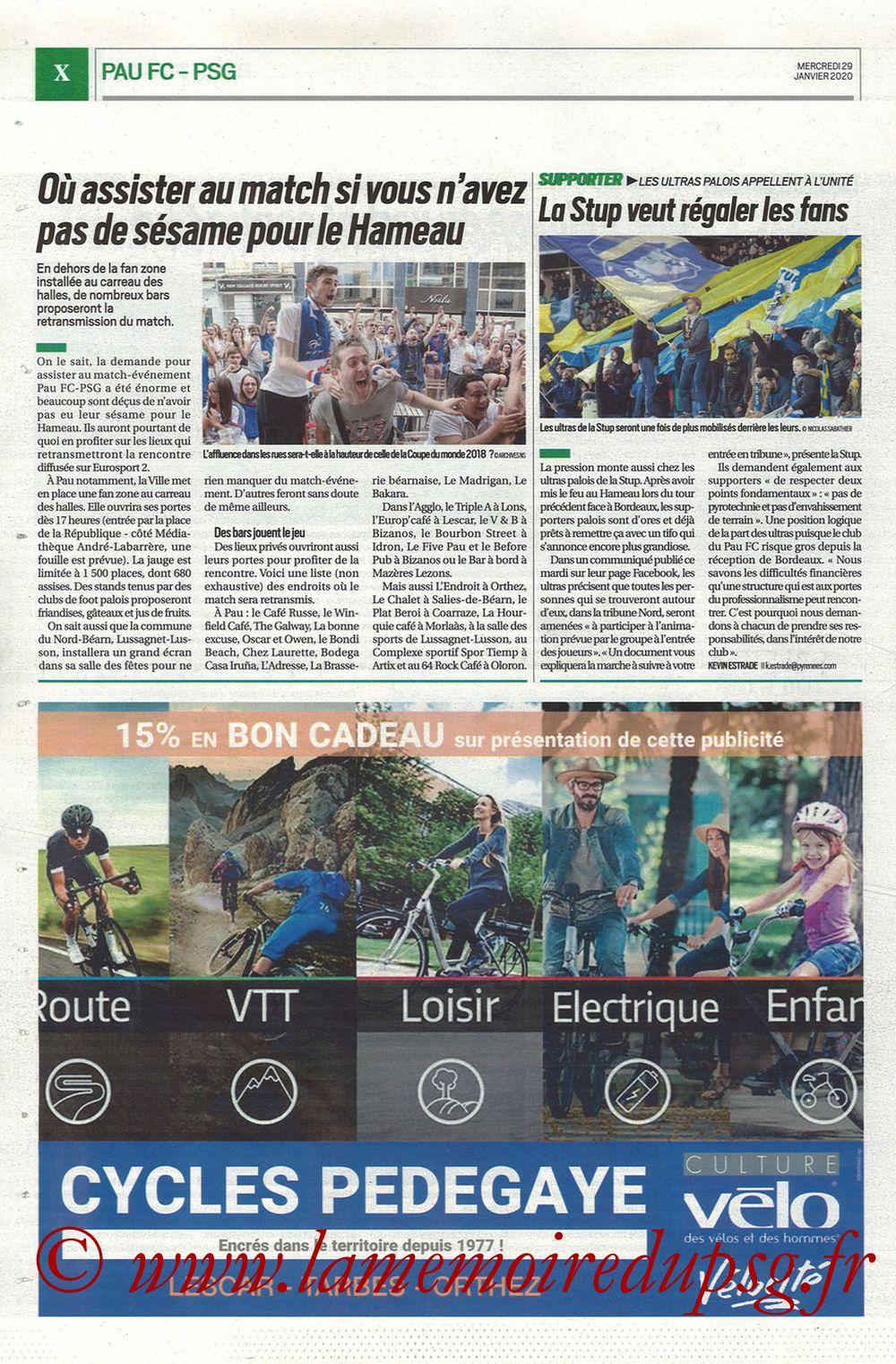 2020-01-29  Pau-PSG (8ème CF, Pyrenees Sports) - Page 10