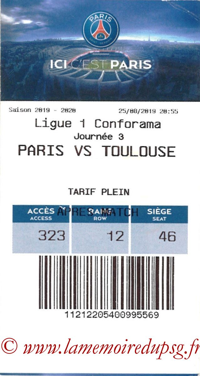2019-08-25  PSG-Toulouse (3ème L1, E-ticket)