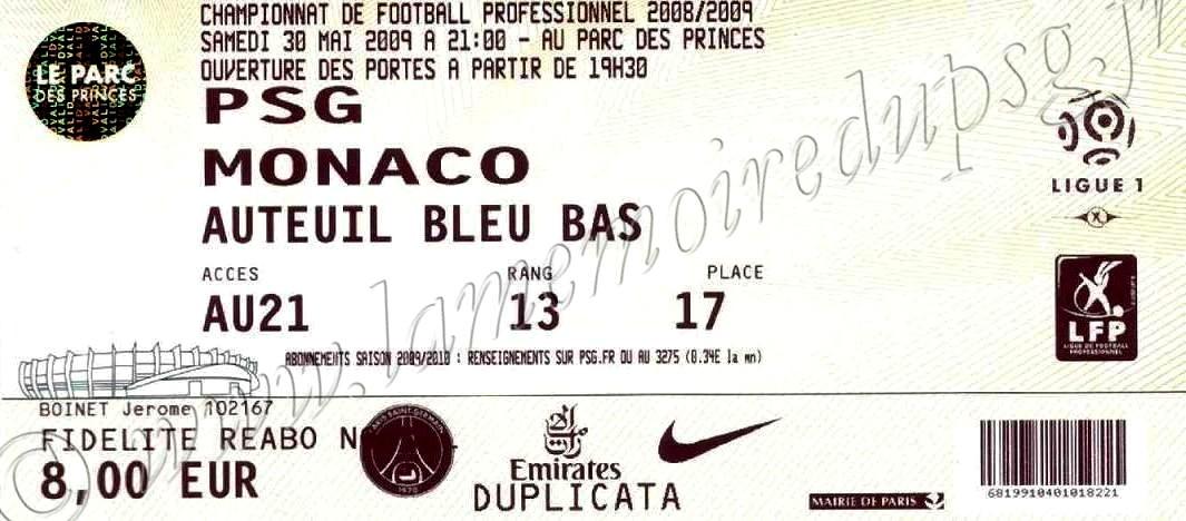 2009-05-30  PSG-Monaco (38ème L1)