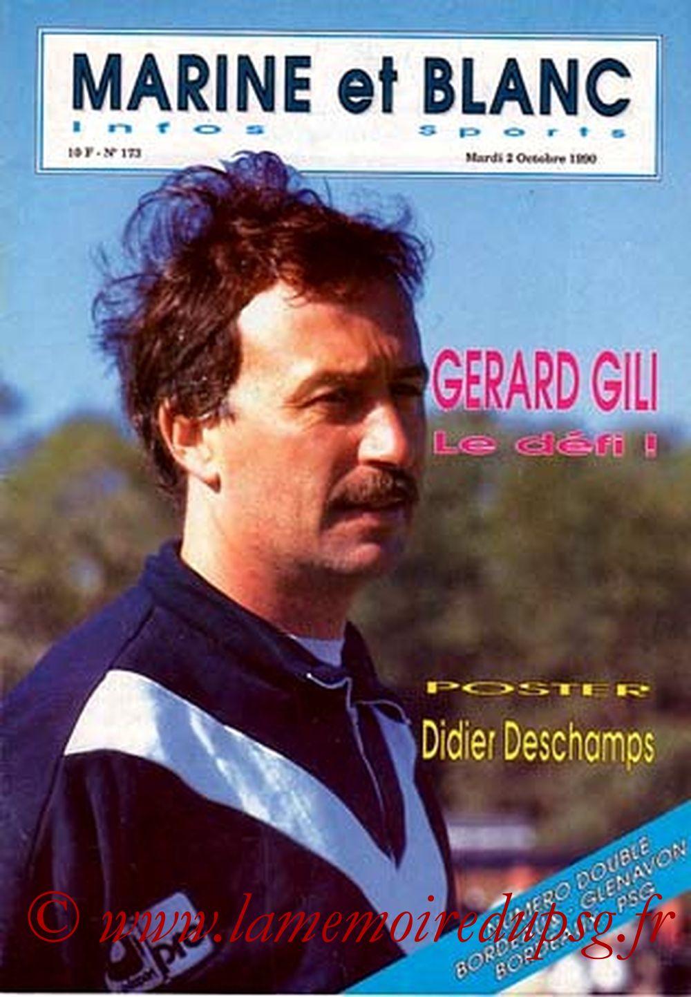 1990-10-06  Bordeaux-PSG (12ème D1, Marine et Blanc N°173)