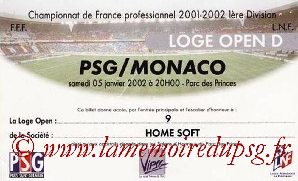 2002-01-05  PSG-Monaco (20ème D1, loge)