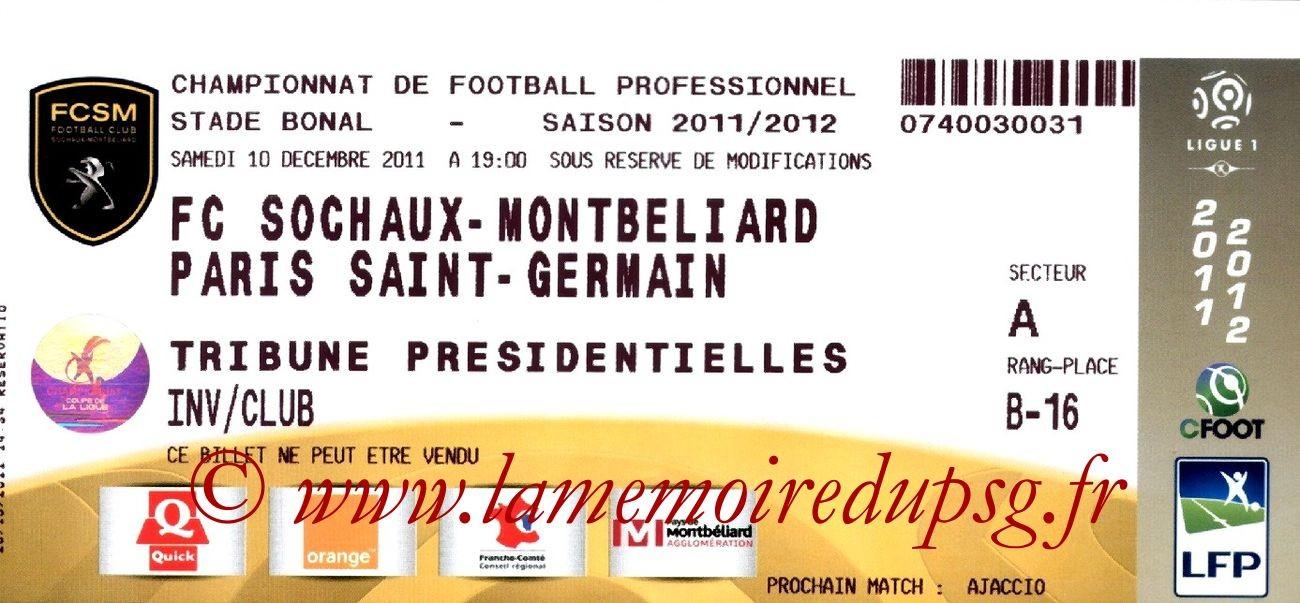 2011-12-10  Sochaux-PSG (17ème L1)