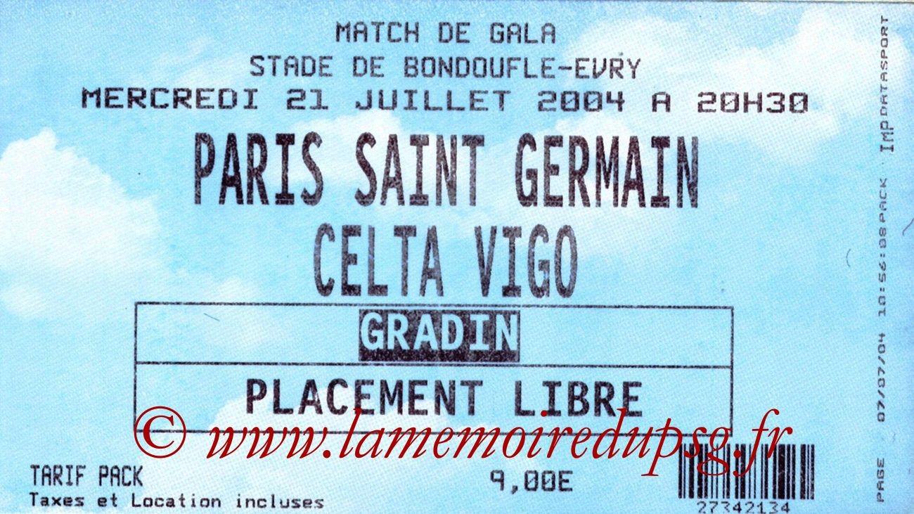 2004-07-21  PSG-Celta Vigo (Amical à Evry-Bondoufle)