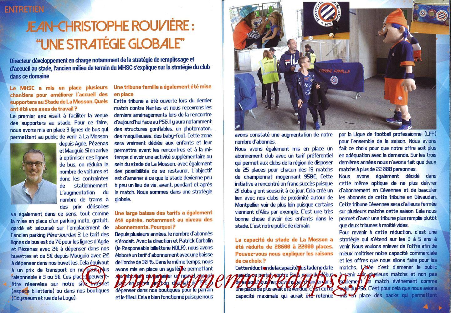 2017-09-23  Montpellier-PSG (7ème L1, L'Echo de la Mosson N°4) - Pages 22 et 23