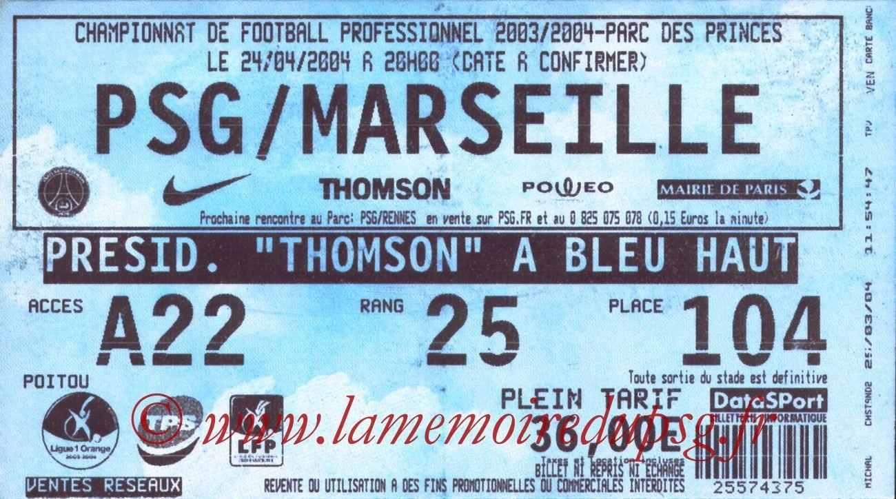 2004-04-25   PSG-Marseille (33ème L1)