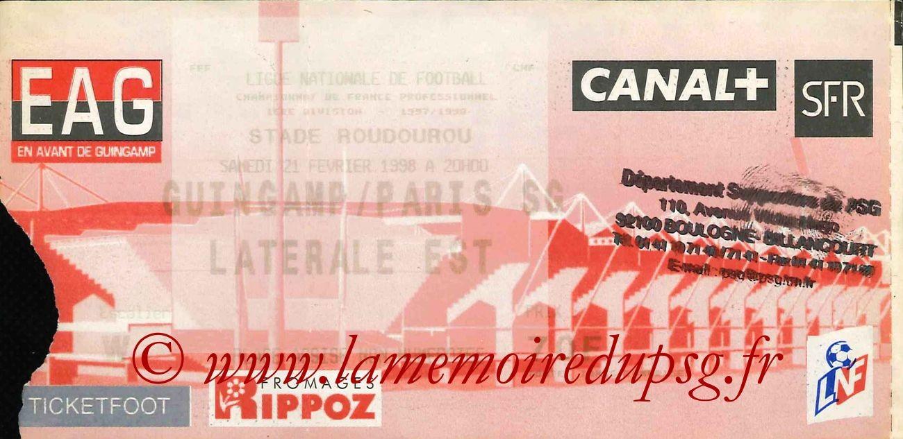 1998-02-21  Guingamp-PSG (27ème D1)