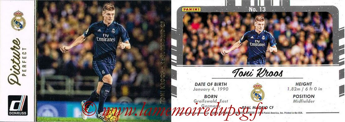 2016 - Panini Donruss Cards - N° PP13 - Toni KROOS (Real Madrid CF) (Picture Perfect)