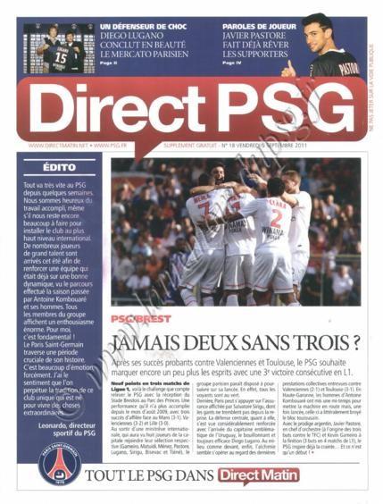 2011-09-10  PSG-Brest (5ème L1, Direct PSG N°18)