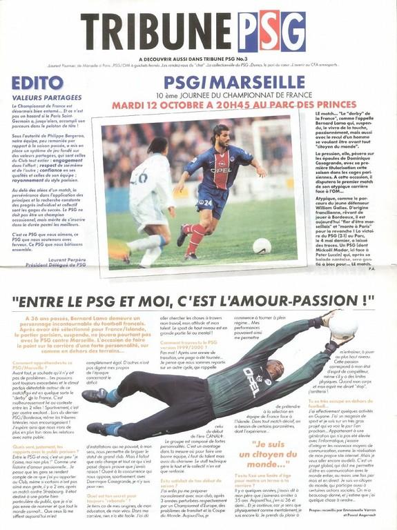1999-10-12  PSG-Marseille (10ème D1, Tribune PSG N°3)