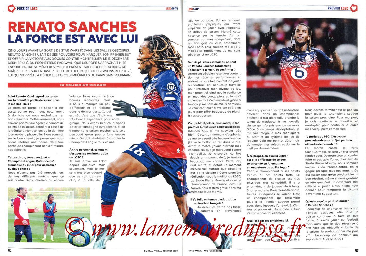 2020-01-25  Lille-PSG (21ème L1, Losc in the City N°41) - Pages 06 et 07