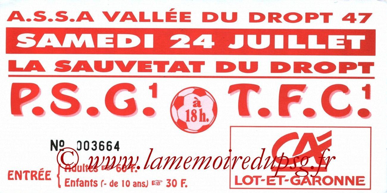 1999-07-24  Toulouse-PSG (Amical à Sauvetat du Dropt)