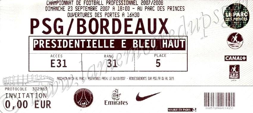 2007-09-23  PSG-Bordeaux (9ème L1)