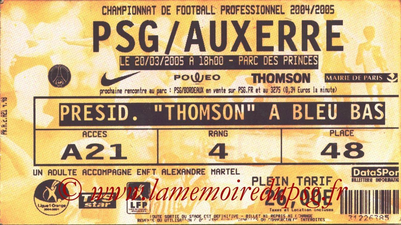 2005-03-20  PSG-Auxerre (30ème L1, bis)