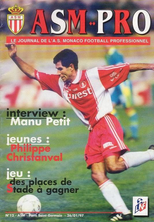 1997-01-26  Monaco-PSG (24ème D1, ASM Pro N°12)