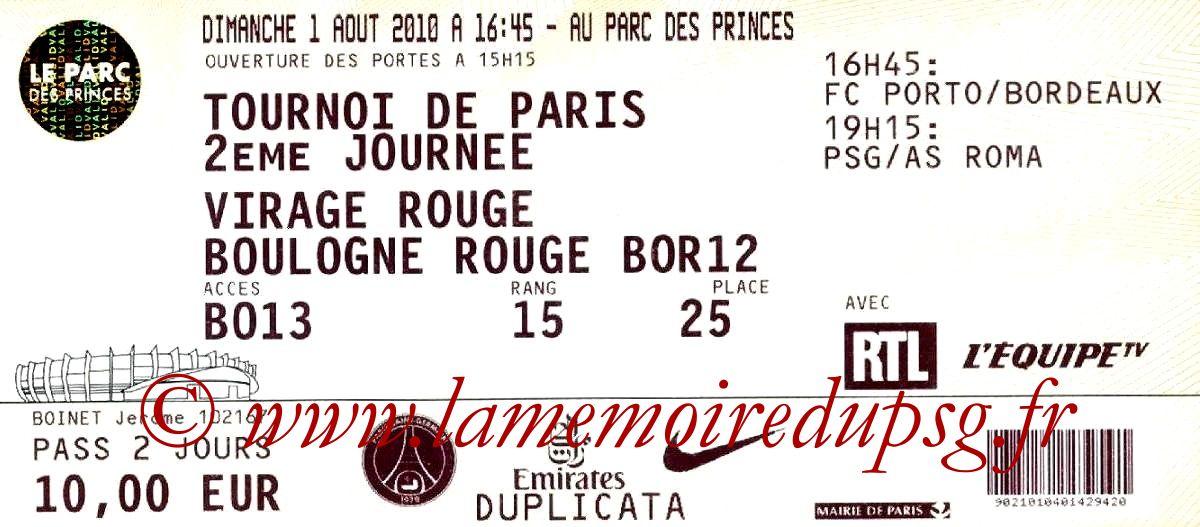 2010-08-01  PSG-As Roma (2ème journée Tournoi de Paris)2