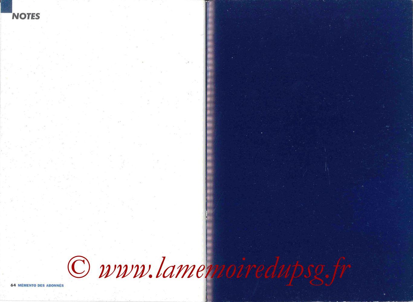 2000-01 - Guide de la Saison PSG - Pages 66 et 67