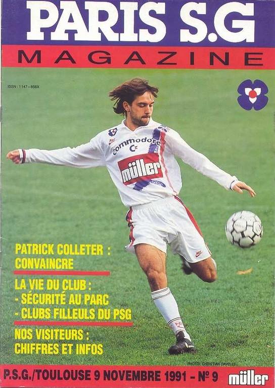 1991-11-09  PSG-Toulouse (17ème D1, Paris SG Magazine N°9)