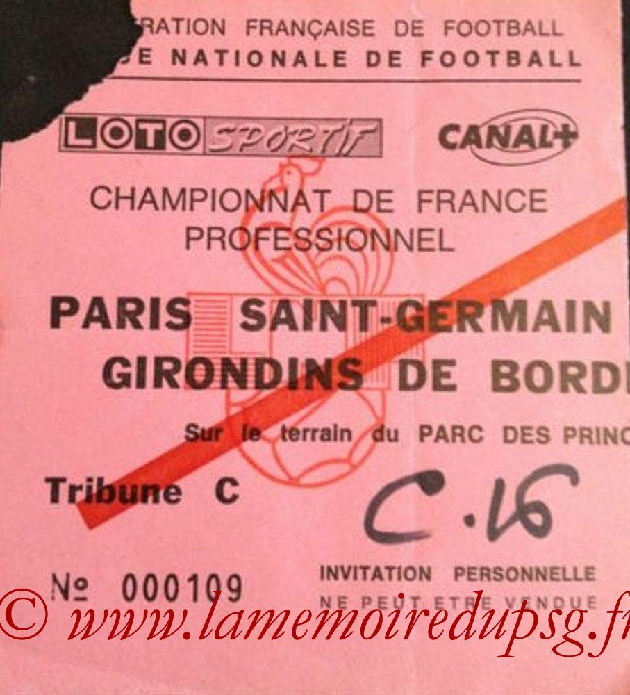 1988-09-14  PSG-Bordeaux (2ème D1, match en retard, Ebay)