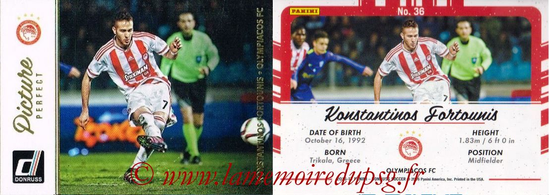 2016 - Panini Donruss Cards - N° PP36 - Konstantinos FORTOUNIS (Olympiacos FC) (Picture Perfect)
