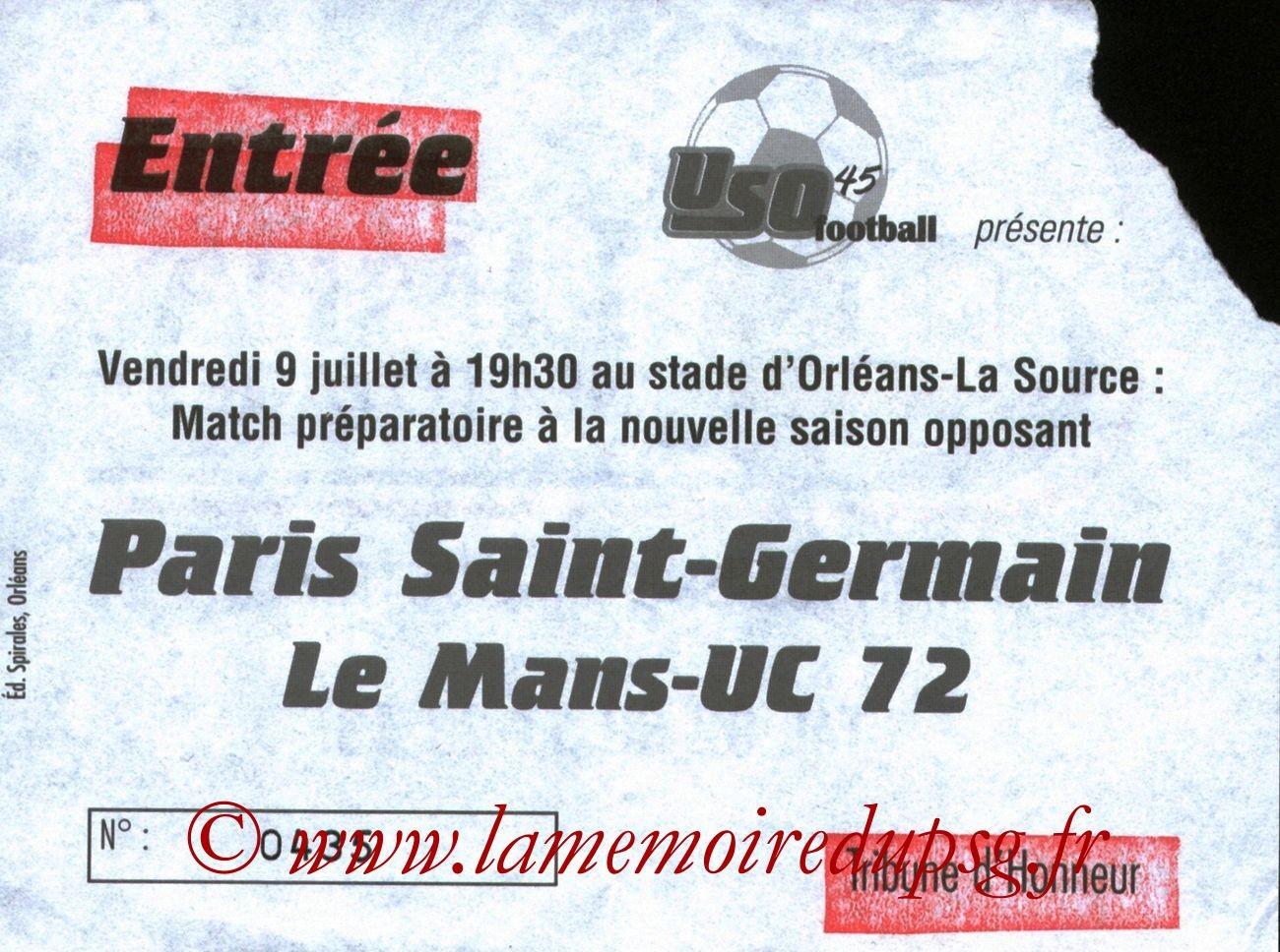 1999-07-09  Le Mans-PSG (Amical à Orléans)