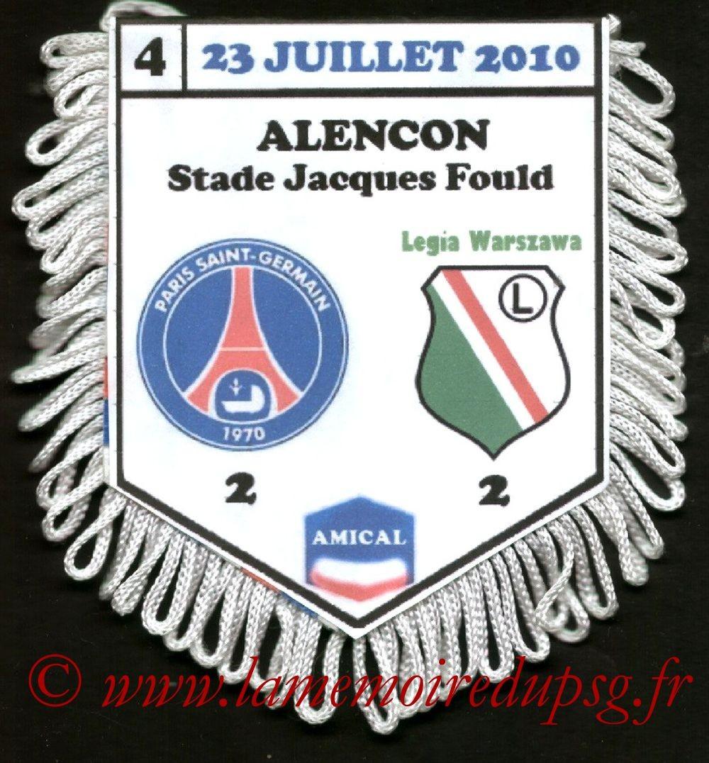 2010-07-23  Legia Varsovie-PSG (Amical à Florence)