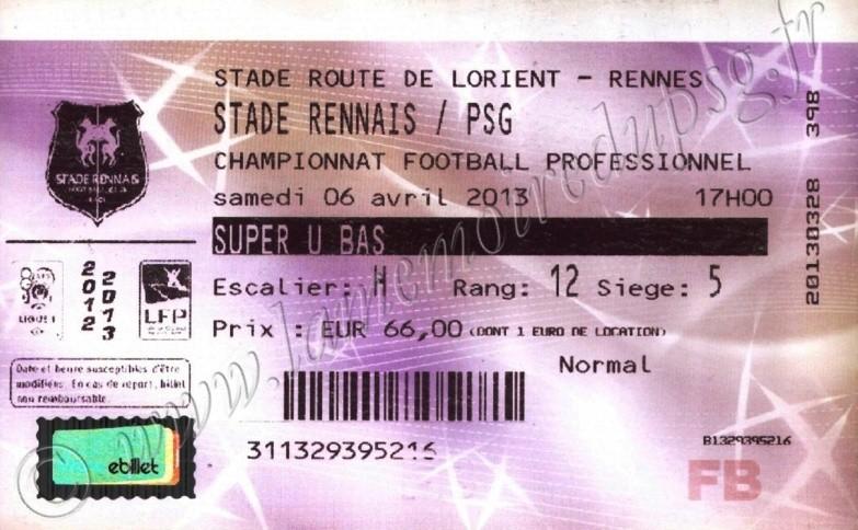 2013-04-06  Rennes-PSG (31ème L1, Billetel)
