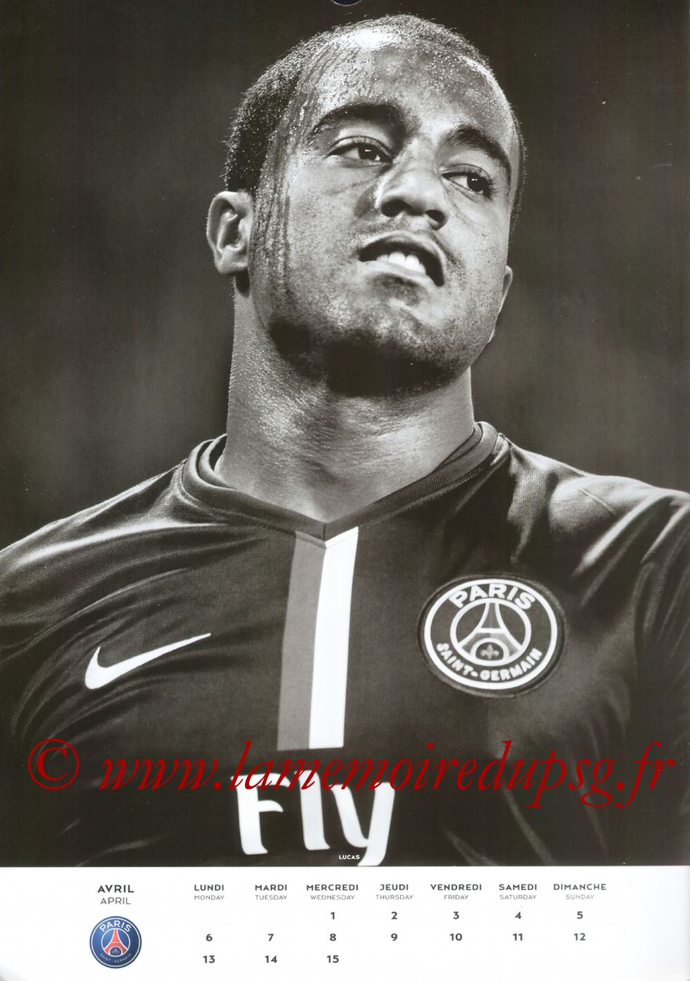 Calendrier PSG 2015 - Page 07 - LUCAS
