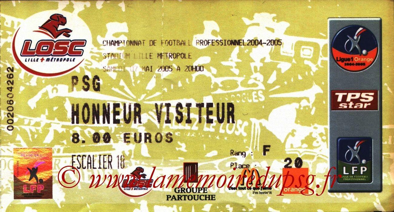 2005-05-07  Lille-PSG (35ème L1 à Villeneuve d'Ascq, bis)