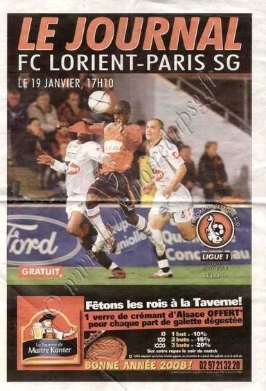 2008-01-19  Lorient-PSG (21ème L1, Le journal)