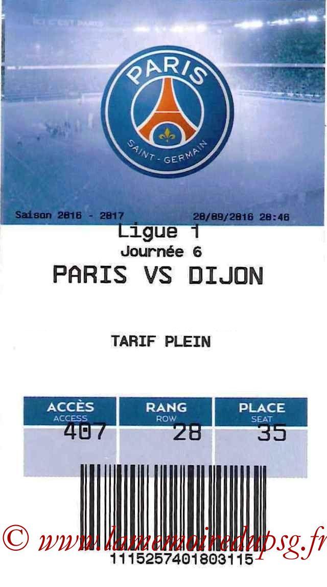 2016-09-20  PSG-Dijon (6ème L1, E-ticket)
