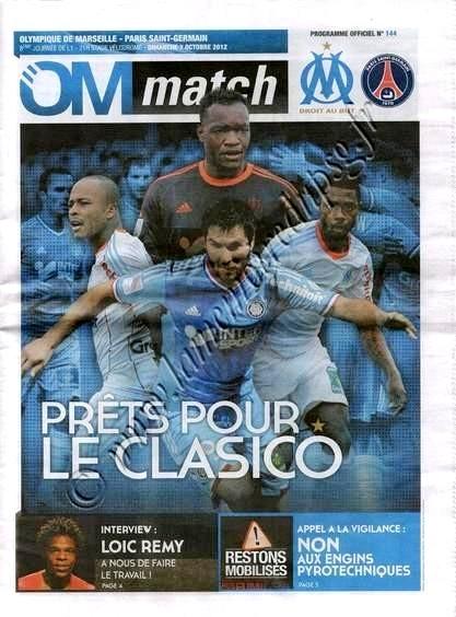 2012-10-07  Marseille-PSG (8ème L1, OM Match N°144)