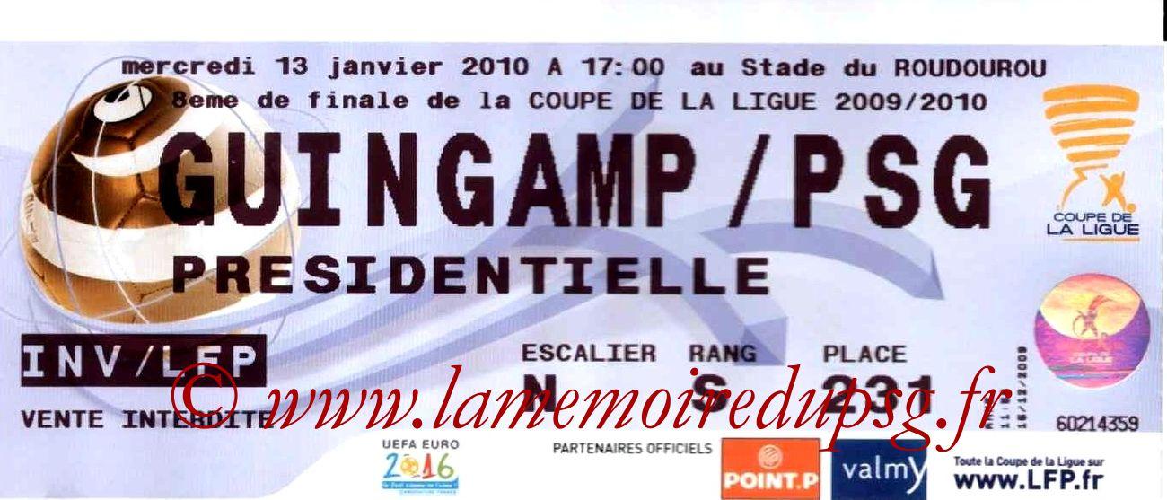 2010-01-13  Guingamp-PSG (8ème Finale CL)