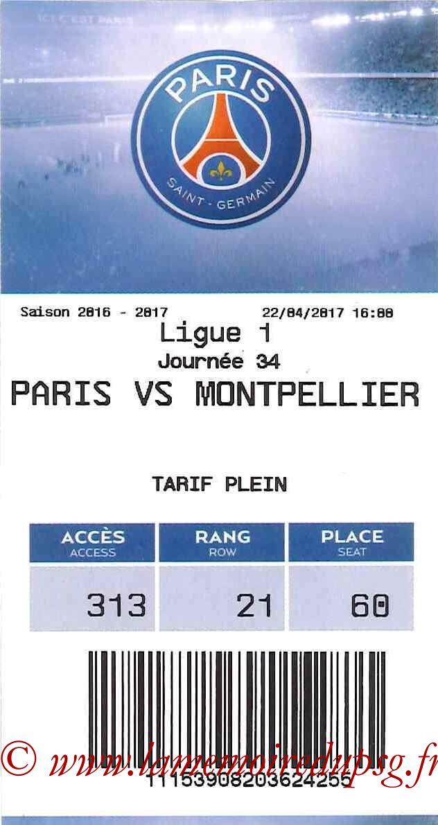 2017-04-22  PSG-Montpellier (34ème L1, E-ticket)