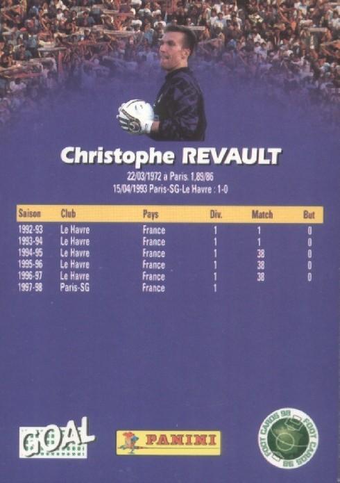 N° 127 - Christophe REVAULT (Verso)