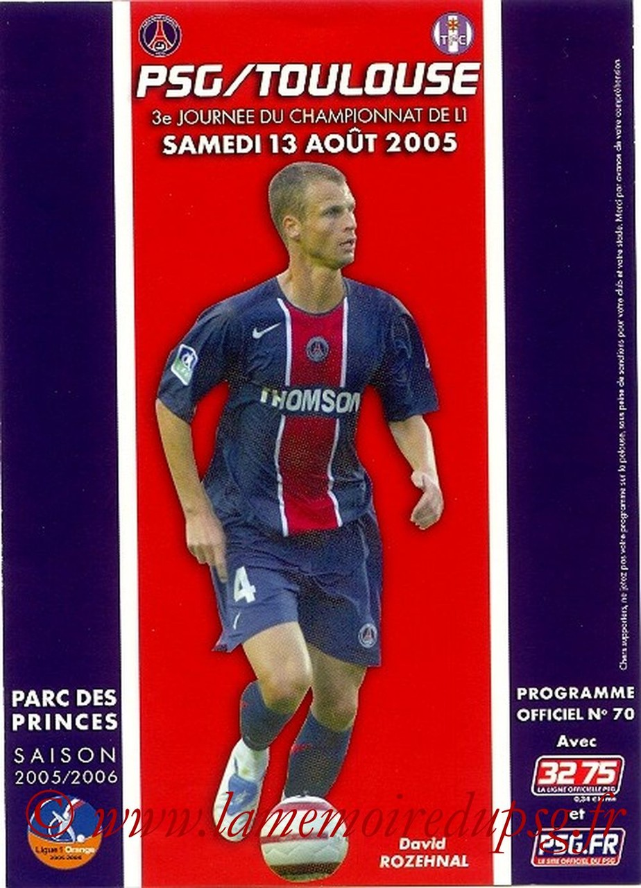 2005-08-13  PSG-Toulouse (3ème L1, Officiel N°70)