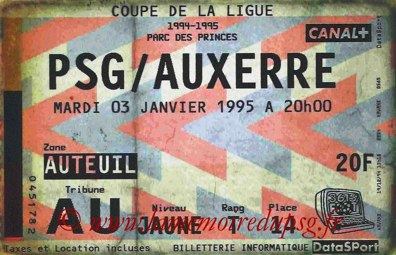 1995-01-03  PSG-Auxerre (16ème Finale CL bis)