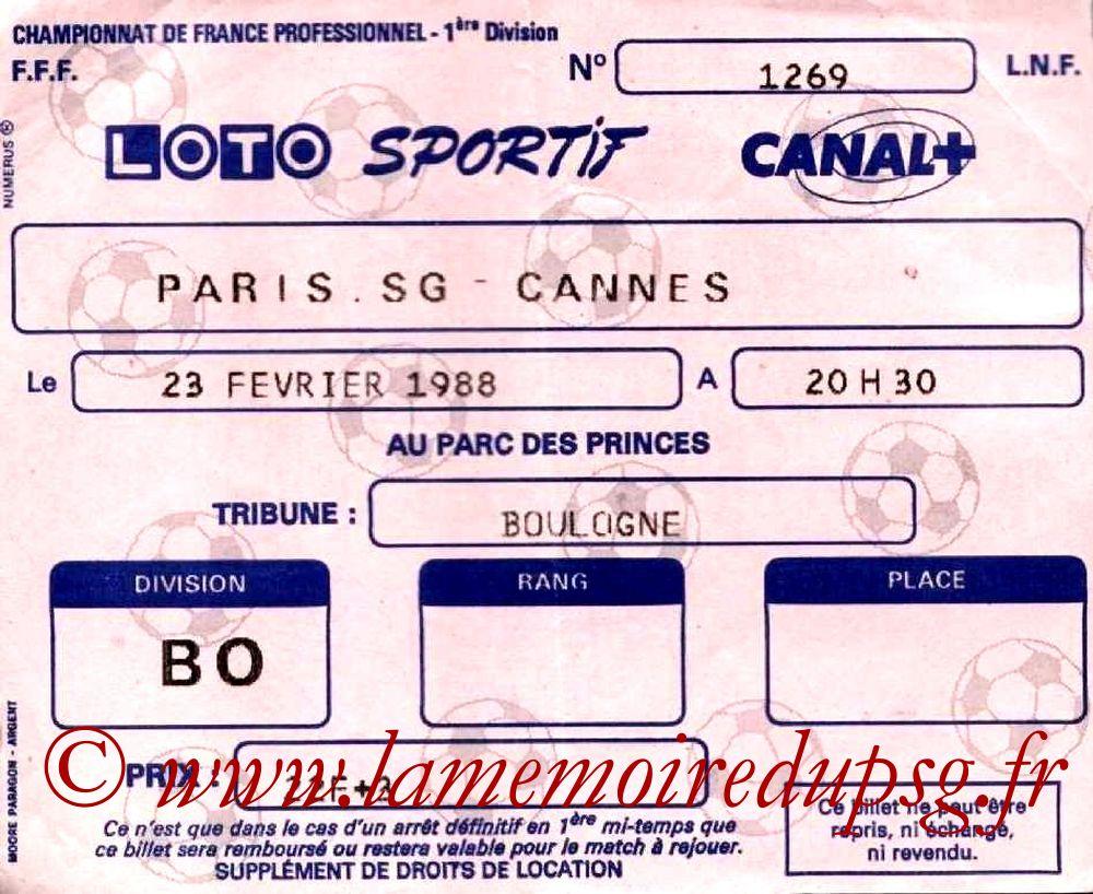 1988-02-23  PSG-Cannes (25ème D1)