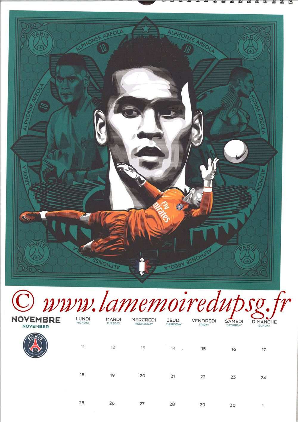 Calendrier PSG 2019 - Page 22 - Alphonse AREOLA