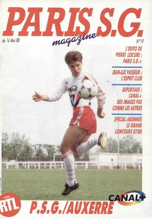 1988-05-14  PSG-Auxerre (35ème D1, Paris SG Magazine N°19)